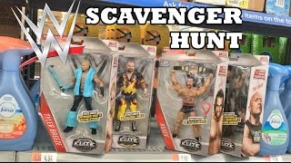 STEALING ELITES SCAVENGER HUNT! WWE EXCLUSIVE WRESTLING FIGURES AT WALMART!