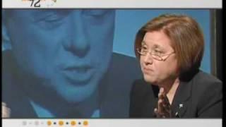 Berlusconi lascia lo studio di Lucia Annunziata - Lucia Annunziata lascia lo studio di Anno Zero.