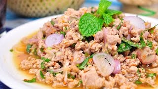 Spicy Minced Pork Salad - Larb Moo ลาบหมู  [4K]