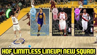 ALL HOF LIMITLESS RANGE STARTING LINEUP! FT. AMETHYST LILLARD DIAMOND KLAY! NBA 2K18 MYTEAM