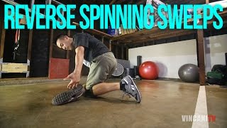 How to Breakdance | Reverse Spinning Sweeps | Flow Basics