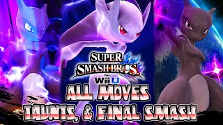 Super Smash Bros Wii U - MEWTWO ALL MOVES, FINAL SMASH, & TAUNTS