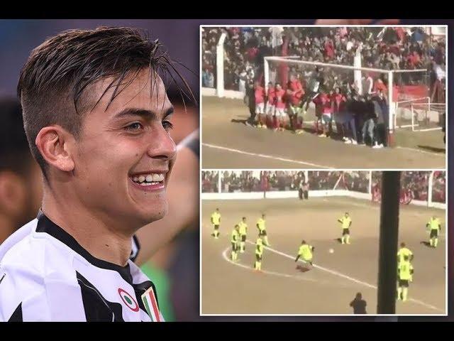 Juventus star Paulo Dybala beats ridiculous TWENTY man wall on goal line to score amazing free-kick