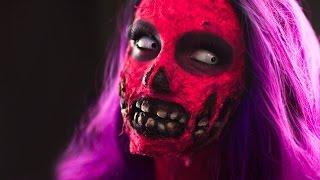 Ripped cheeks, exposed teeth zombie -- FX Makeup Tutorial