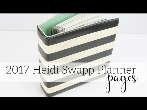 Heidi Swapp 2017 Memory Planner Pages