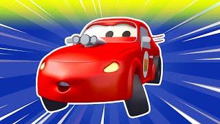 La Super Patrulla en Auto City - los Coches Vándalos | Dibujos animados de carros