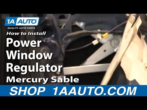 How to Install Replace Power Window Regulator 00-05 Mercury Sable 1AAuto.com