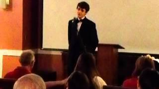 Josh Menzies Singing Sinatra