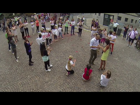 Flash Mob marriage proposal Marco & Eleonora Milano