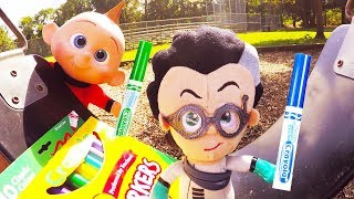 Incredibles 3 Marker Challenge with PJ Masks and Baby Jack Jack at Playground Park