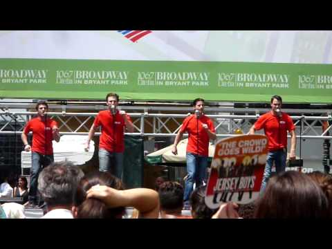 Broadway in Bryant Park 2009 - Jersey Boys - Big Girls Don't Cry & Walk Like a Man