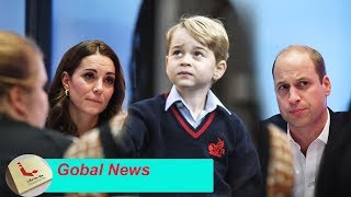 Prince William and Kate looked quite tense when invited by George's teacher to the parent meeting