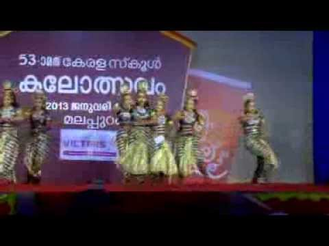 Kerala School Kalolsavam ...first Prize In Group Dance High School Section...silver Hills Calicut... video