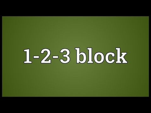 Header of 1-2-3 Block