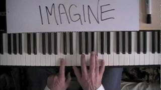 John Lennon Imagine Easy Piano tutorial How to play