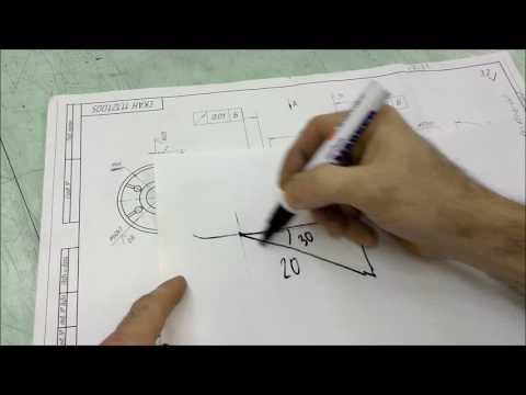 Как делить окружность на шесть частей без штангеля и поворотного стола