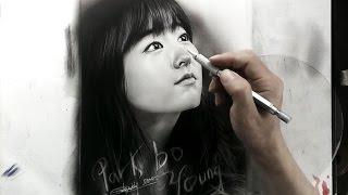 Park Bo Young Pencil Drawing - Vẽ Chân Dung Park Bo Young - DP Truong