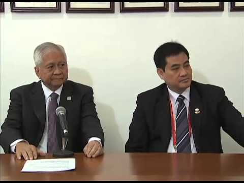 Press Conference with DFA Sec Albert del Rosario 11/10/2014