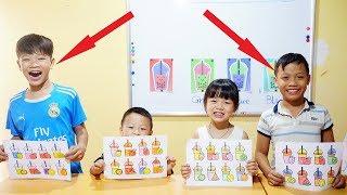 Hunter Kids Go To School Learn Colors Milk tea | Classroom Funny Nursery Rhymes