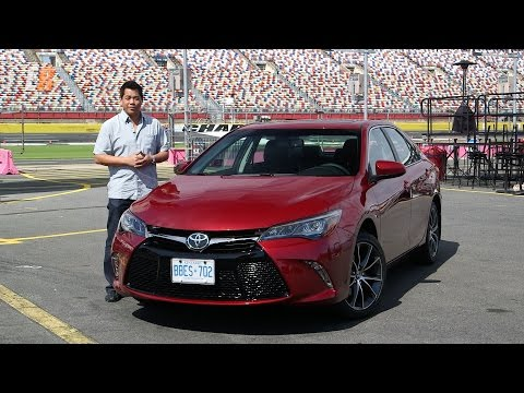 2015 Toyota Camry Test Drive Review with Charlotte Motor Speedway Hot Lap