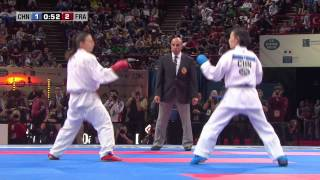 Final Female Kumite -50 Kg. Hong Li vs Alexandra Recchia. World Karate Championships 2012
