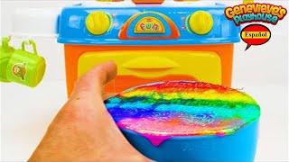 ¡Aprenda Formas, Colores y Números para Niños con un Pastel de Cumpleaños de Juguete y Tayo!
