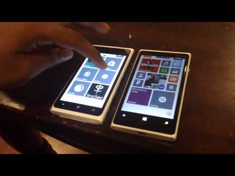 WP7.8 (Nokia Lumia 900) v. WP8 (Nokia Lumia 920)
