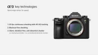 Sony | α9 | New image sensor - 35mm full-frame stacked CMOS sensor with integral memory