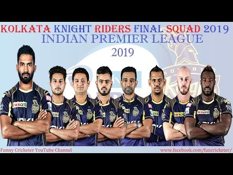 IPL 2019: Kolkata Knight Riders Final Squad 2019: