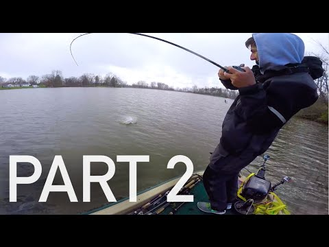Bass Fishing in The Snow -- VLOG #21