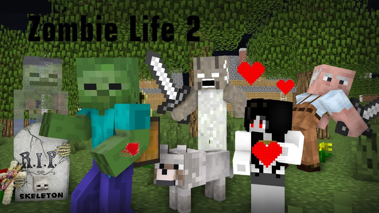 Monster School : Save Skeleton`s Life | Zombie Life 2 Vs Slendrina & Granny - Minecraft Animation