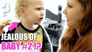 TODDLER JEALOUS OF NEW BABY!? TTC BABY #2! DAY IN THE LIFE MOMMY