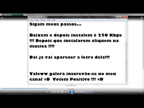 Como colocar letra de musica no Windows Media Player