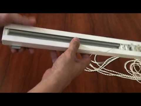 Как снять карниз вертикальных жалюзи - YouTube