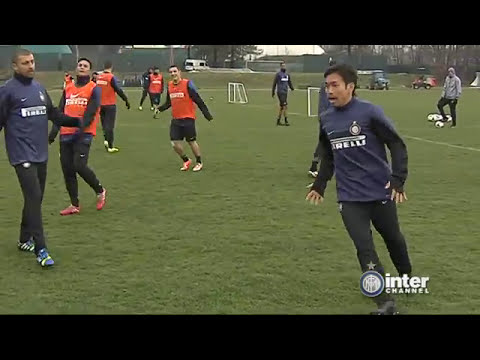 ALLENAMENTO INTER REAL AUDIO 27 02 2014