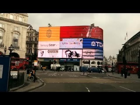 Queen  - Takeover at Piccadilly Circus
