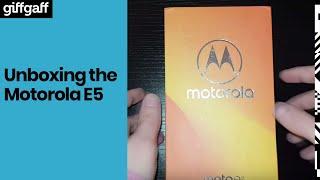 Motorola E5 | Phone Unboxing  | giffgaff