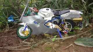DIY- Model Motorbikes with Soda Can and Electric Motor