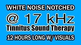 White Noise - Notch Filtered at 17 kHz for Tinnitus Therapy w/ Visuals