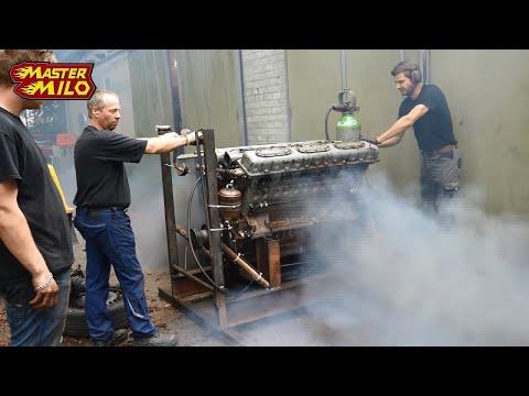 Download 38,8 liter V12 tank engine 1st run after 28 years! Mp4 baru