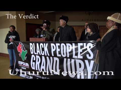 Black People's Grand Jury indicts Darren Wilson on first degree murder charges.