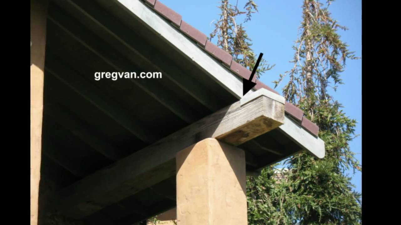 Metal Flashing Over Exterior Wood Beam Building And