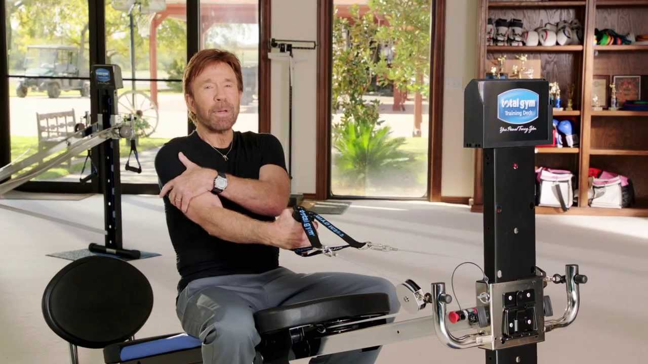 chuck norris total gym tricep workout routine youtube
