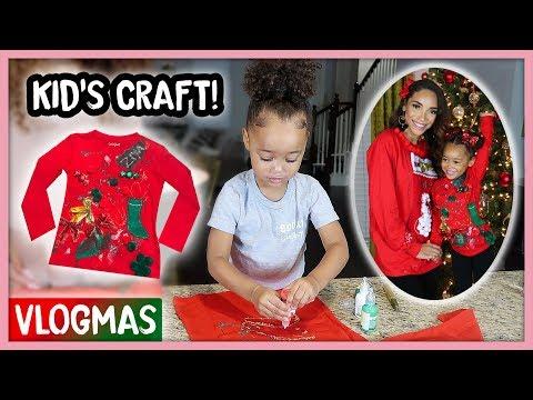 Making Ugly Christmas Sweaters with Ziya!   Vlogmas Ep. 4
