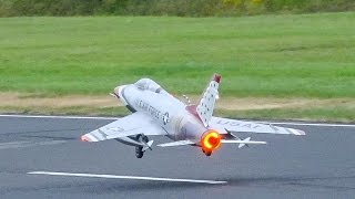 FANTASTIC HUGE RC JET F-100 SUBER SABRE SCALE MODEL / Jet Power Fair 2016