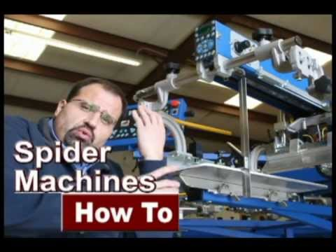 How To Install an Automatic Screen Printing Machine Part 4 - Spider Machines