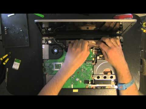 TOSHIBA Satellite A505 laptop take apart video. disassemble. how to open disassembly