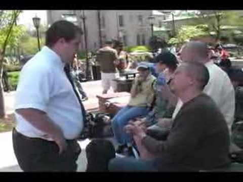 The Richmond Bible Evangelism Team while preaching at VCU tries to share the Gospel to a hostile Mormon. Preaching By: http://www.richmondbet.org Video Made By: ...