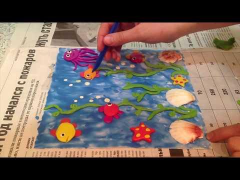 Аквариум из пластилина. Aquarium of plasticine.fish