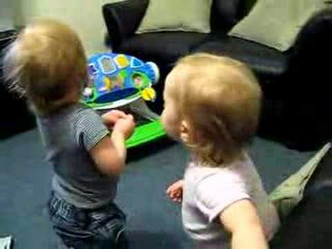 Twins Kiss, Feed Each Other, Then Wrestle